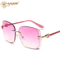 2017 Hot Women Sunglasses Fashion Brand Designer Mirror Lens Ladies Sun glasses Female Eyewear Oculo 930