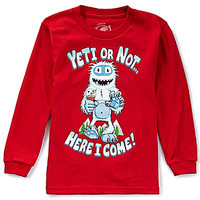 First Wave 2T-7 Yeti or Not Here I Come Long-Sleeve Christmas Tee   Dillards.com