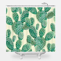 Cacti Attack Shower Curtain