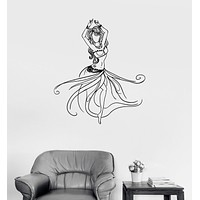 Vinyl Wall Decal Belly Dance Sexy Dancer Girl Beautiful Woman Stickers Unique Gift (984ig)