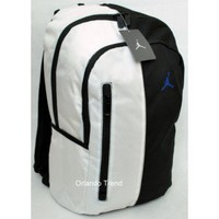 "Nike Air Jordan 15"" Laptop White and Black Laptop Backpack 9A1364-610 at OrlandoTrend.com"