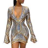 Summer Sequin Club Party Dress