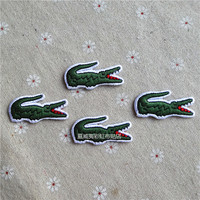 3 PCS Crocodile Animal Embroidered Iron on Patches for Clothing 3.1*1.6 CM