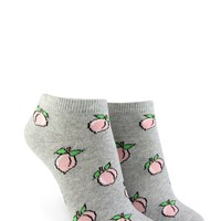 Peach Print Ankle Socks