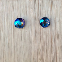 Crystal Love Earrings – Blue