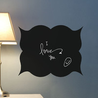 Chalk Board Wall Decal vinyl writing surface by HouseHoldWords