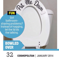 Put Me Down Toilet Decal - As Seen in Cosmopolitan Magazine January 2014