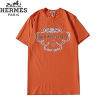 Fendi New fashion letter print couple top t-shirt Orange