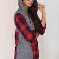 Come as You Are Flannel Hoodie Shirt