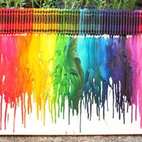 How to Make Rainbow Melted Crayon Art | 52 Kitchen Adventures