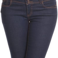 3-Button Skinny Jeans
