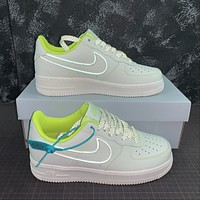 Morechoice Tuhz Nike Air Force 1 Low Sneakers Reflective Casual Skaet Shoes 315122-909