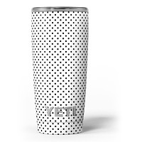The Slate Black Micro Polka Dots - Skin Decal Vinyl Wrap Kit compatible with the Yeti Rambler Cooler Tumbler Cups