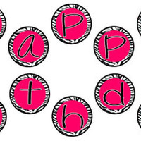 """Hot Pink and Zebra Print Happy Birthday Party Banner! Matches my Hello Kitty Birthday Party Set - 5"""" circles - INSTANT DOWNLOAD! Printable"""