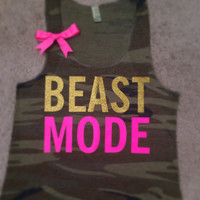 Camo - Beastmode Tank - Ruffles with Love - Womens Fitness