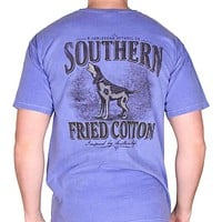 Howling in Style Pocket Tee in Flo Blue by Southern Fried Cotton