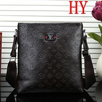 Louis Vuitton LV  Men Leather Fashion Office Bag Shoulder Bag Crossbody