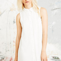 Cooperative Sleeveless Shirt Dress in White - Urban Outfitters