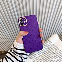 Louis Vuitton LV iPhone 11promax mobile phone case 12 mobile phone case x/xr/xsmax lens all-inclusive 7p soft silicone female models