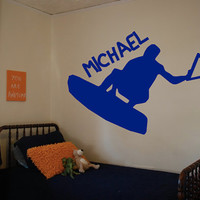 Custom Wakeboarder Decal - Personalized - Wall Art - Kids Room - Custom Kid Name - Custom Decal - Gift Idea - Kids Room Decor - Playroom
