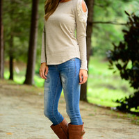 See It Through Top, Taupe