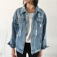Long-Sleeved Denim Jacket