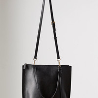 Silence + Noise Zip Pebbled Faux Leather Tote Bag | Urban Outfitters
