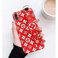 Louis Vuitton LV Newest Fashion Personality Cute Phone Cover Case For iPhone 11 X XR XS XS MAX iphone 6 6s 6plus 6s-plus 7 7plus 8 8plus X Red