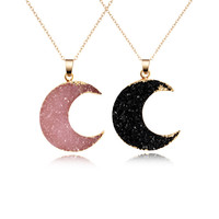 Necklace Women Druzy Drusy Gold  Necklace