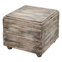 Uttermost 'Avner' Wooden Cube Table