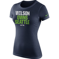 Russell Wilson Seattle Seahawks Nike Women's Player Owns T-Shirt – College Navy