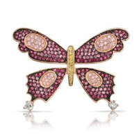 Bling Jewelry Pink Butterfly Pin