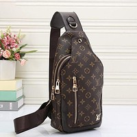 LV Louis Vuitton classic print men's and women's messenger bag waist bag shopping bag