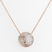 Women's House of Harlow 1960 'Tholos' Engraved Pendant Necklace