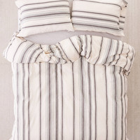 Rey Yarn-Dyed Stripe Duvet Cover   Urban Outfitters