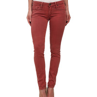 True Religion Jude Skinny Jeans in Rusty Red Rusty Red - 6pm.com
