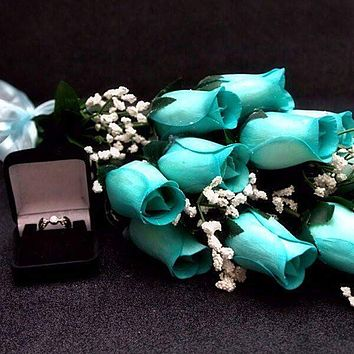 Baby Blue Bouquet Jewelry Roses Bouquet