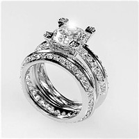 Isabel 2.5ct Round Vintage Engagement Ring Set | 7.5ct