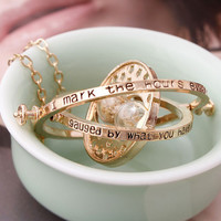 360° Time Hourglass Necklace -03322