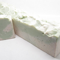 Herbal Blend Rosemary Mint Handmade Coconut Milk Soap Loaf with Shea Butter - Mission Ridge Soaps