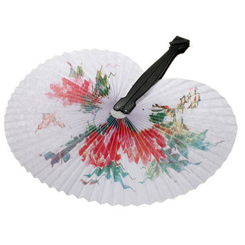 Chinese Paper Floral Folding Hand Fan // Oriental // Wedding Favors // Summer Event