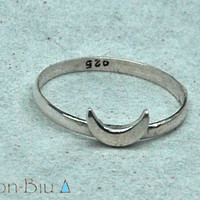 Moon Ring, Midi Ring, Stacking Ring, 925 Sterling Silver Ring, Bohemian Ring, Simple, Stack, Stackable, Don Biu