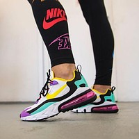 NIKE Air Max 270 React felt and ripstop sneakers