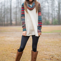 Winter Love Tunic, Ivory