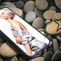 Miley Cyrus style iPhone Case, iPhone 4/4S, 5/5S, 5c, Samsung S3, S4 Case, Hard Plastic and Rubber Case By Dsign Star 08