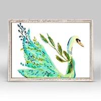 Boho Swan Mini Framed Canvas