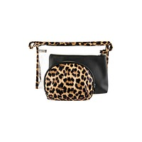 3-Piece Leopard Clear Pouch