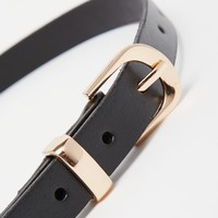 New Look Premium Leather Skinny Belt