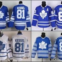 Men's Toronto maple leafs 2014 Winter Classic Leafs Hockey Jerseys #81 Phil Kessel Jersey Blue Authentic Jersey A Patch