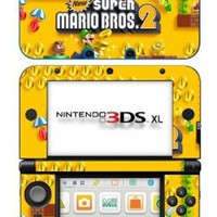 New Super Mario Bros 2 Game Skin for Nintendo 3DS XL Console